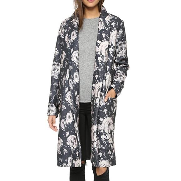 BB Dakota Jackets & Blazers - BB Dakota Gunievere Floral Duster Coat